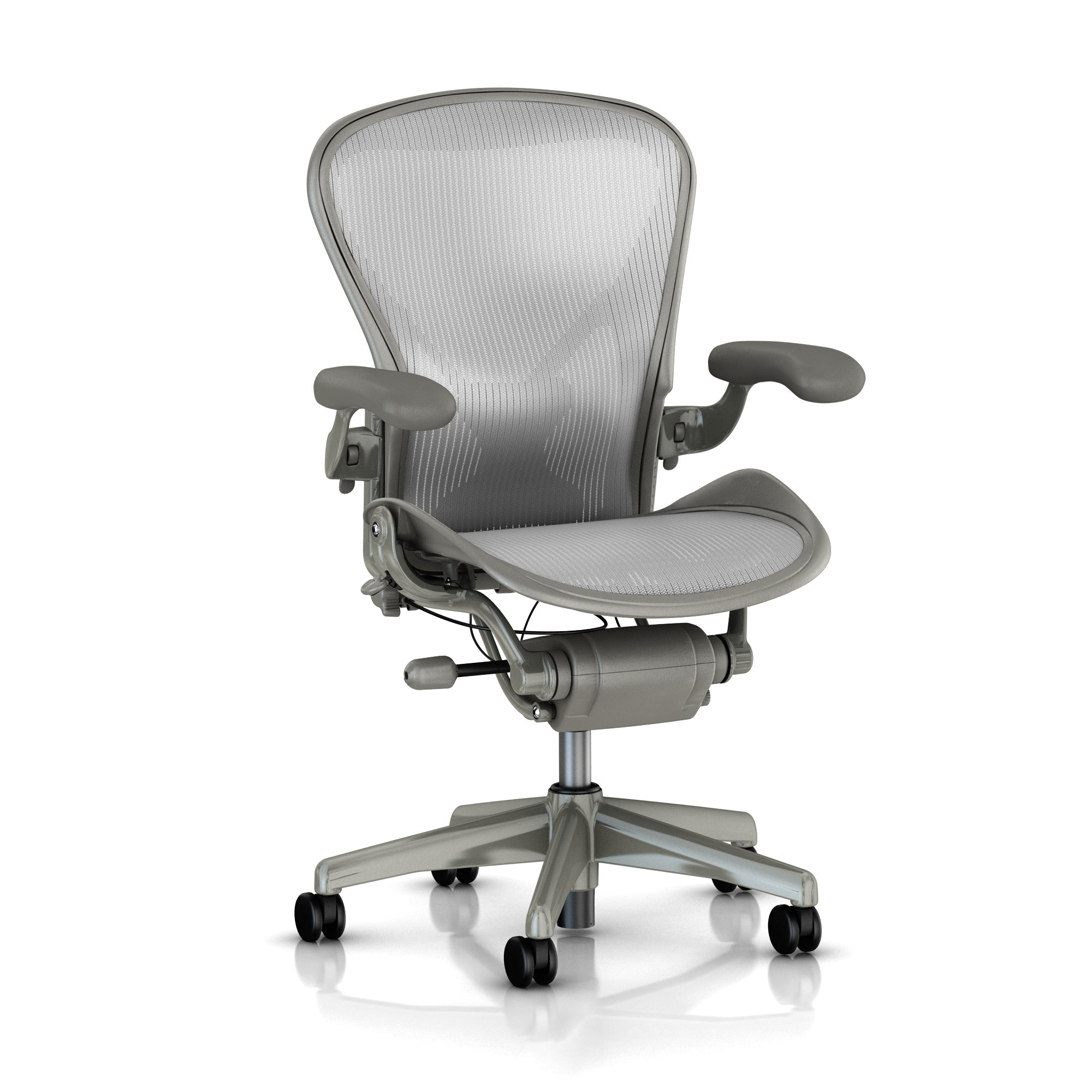 A Size - Adjustable Lumbar Support Back support - Titanium with smoke Finish - Zinc Color