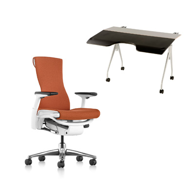 Embody Chair and Envelop Desk