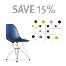 Eames Molded Plastic Side Chair and Hang-it-All