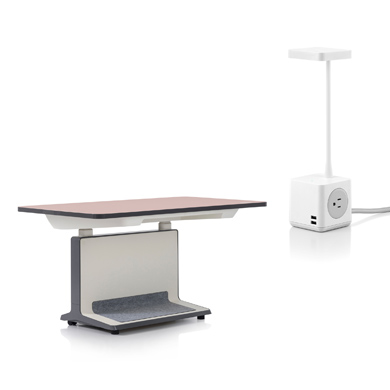 T2 Electric Height Adjustable Desk and Cubert Light
