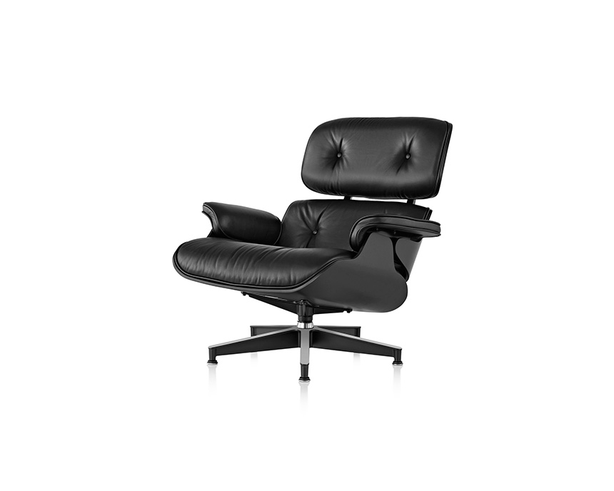 Eames Lounge Chair and Ottoman, Ebony - Item4