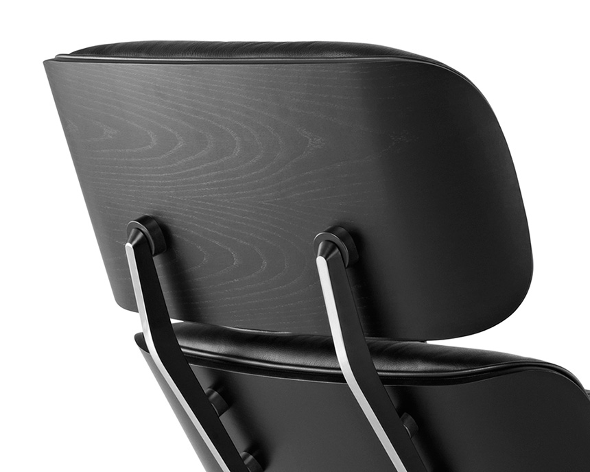 Eames Lounge Chair and Ottoman, Ebony - Item8