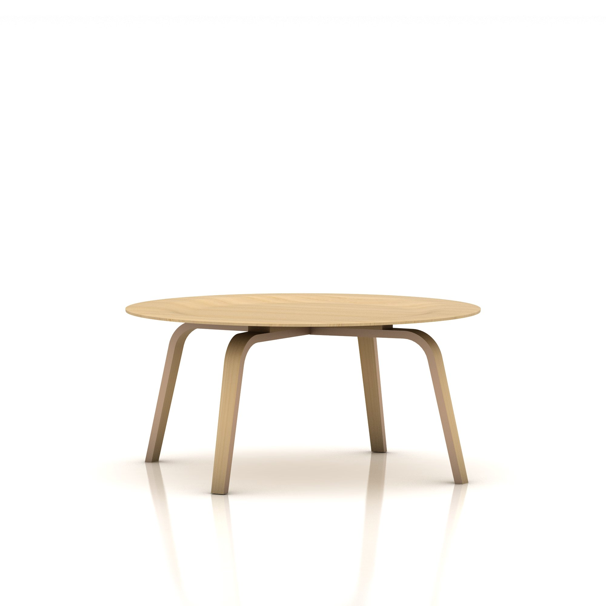 Eames Molded Plywood Coffee Table Wood Base - Item2