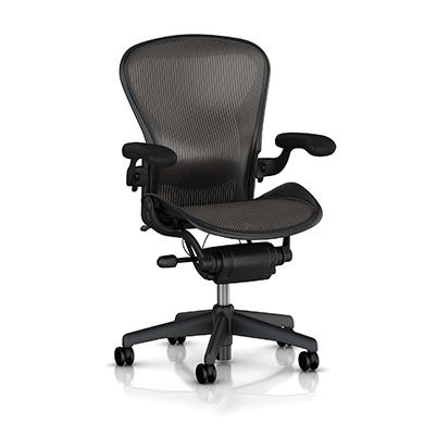 A Size - Adjustable lumbar Back support - Graphite Finish - Classic Carbon Color
