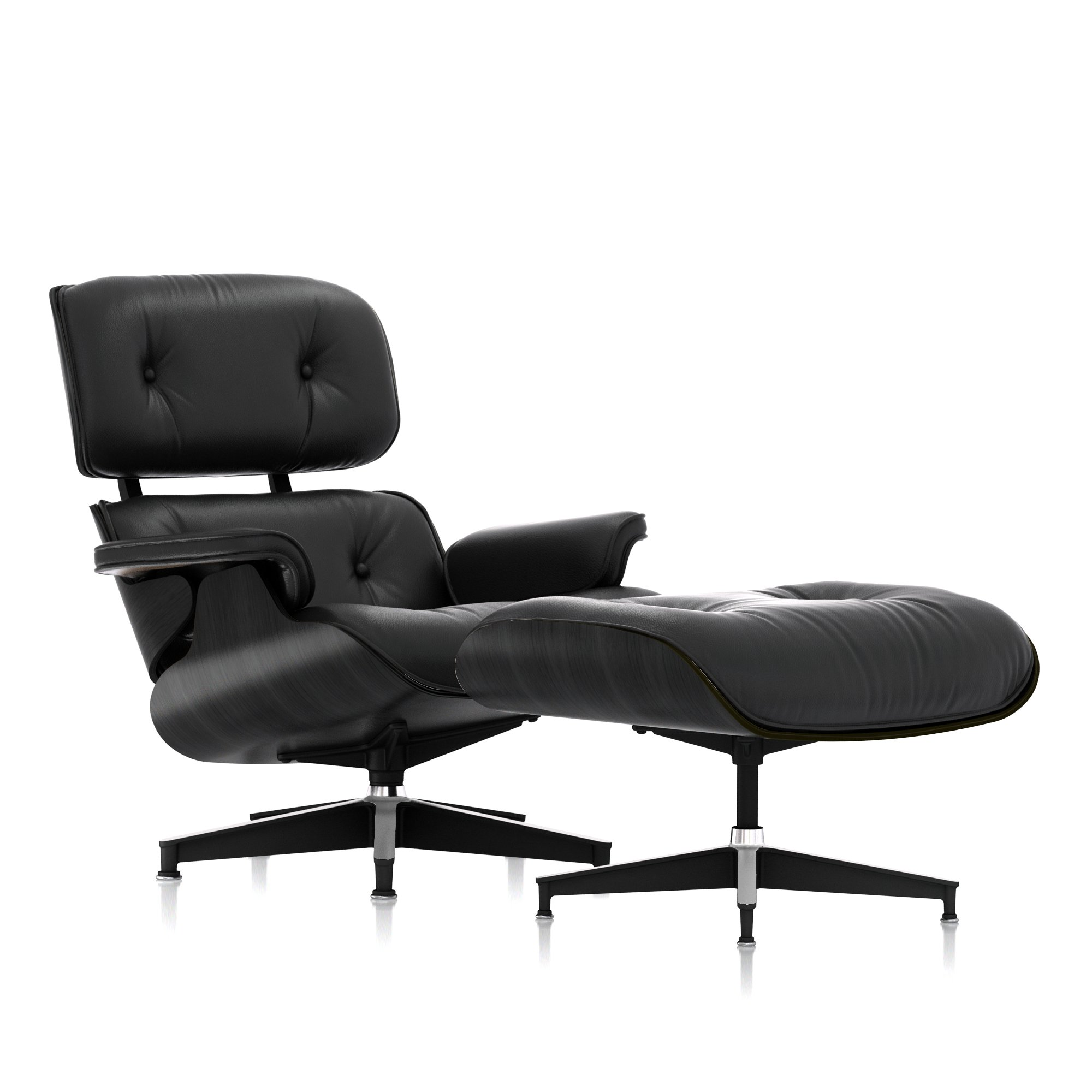 Eames Lounge Chair and Ottoman, Ebony