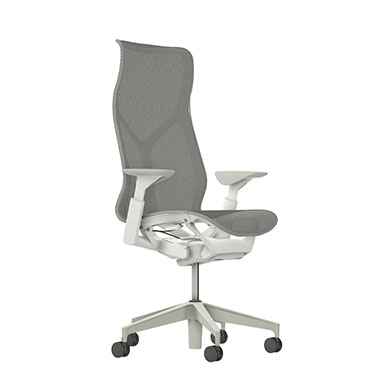 High-Back Cosm Chair, Adjustable Arms, Mineral