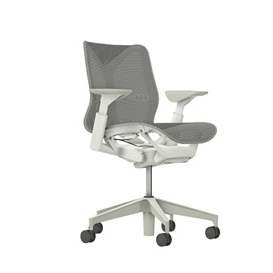 Low-Back Cosm Chair, Adjustable Arms, Mineral