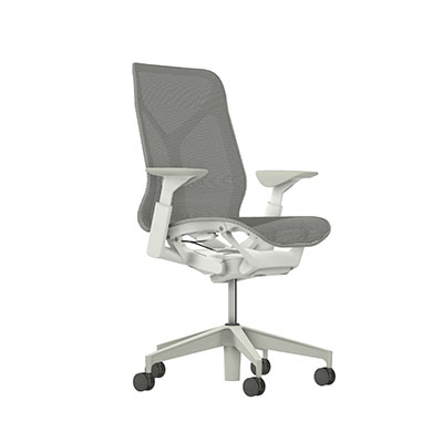 Mid-Back Cosm Chair, Adjustable Arms, Mineral