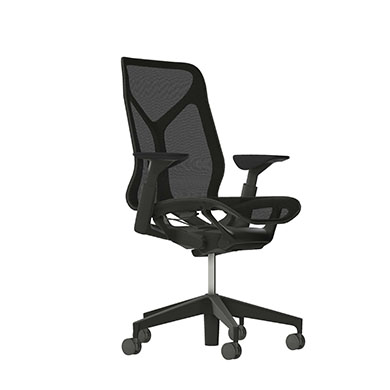 Mid-Back Cosm Chair, Adjustable Arms, Graphite