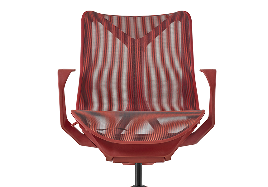 Low-Back Cosm Chair, Fixed Arms, Mineral - Item10