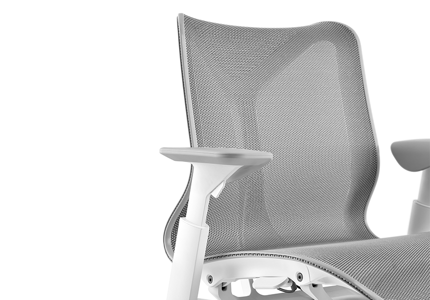 Low-Back Cosm Chair, Fixed Arms, Graphite - Item12