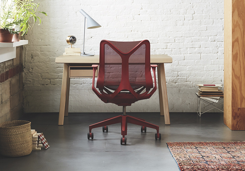 Low-Back Cosm Chair, Adjustable Arms, Carbon - Item2
