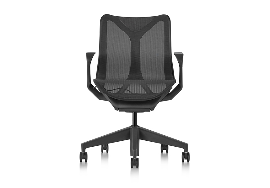 Low-Back Cosm Chair, Fixed Arms, Graphite - Item4