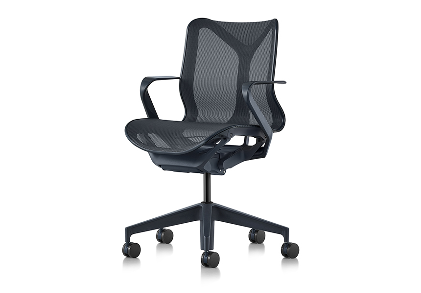 Low-Back Cosm Chair, Fixed Arms, Graphite - Item6