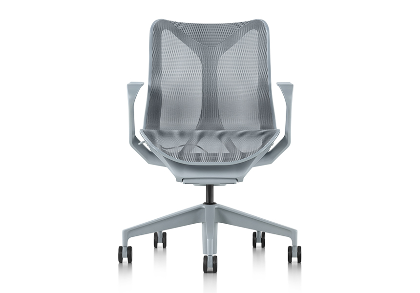Low-Back Cosm Chair, Adjustable Arms, Graphite - Item7