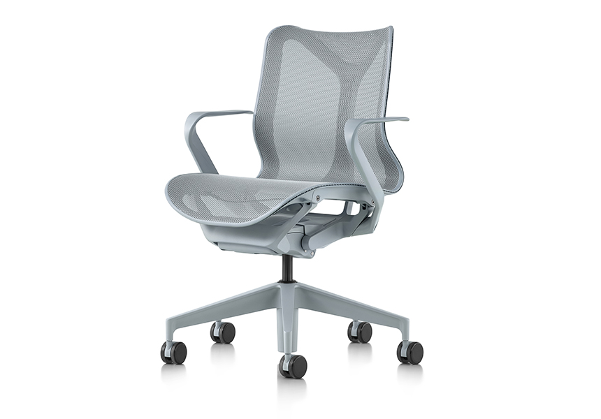 Low-Back Cosm Chair, Fixed Arms, Graphite - Item8