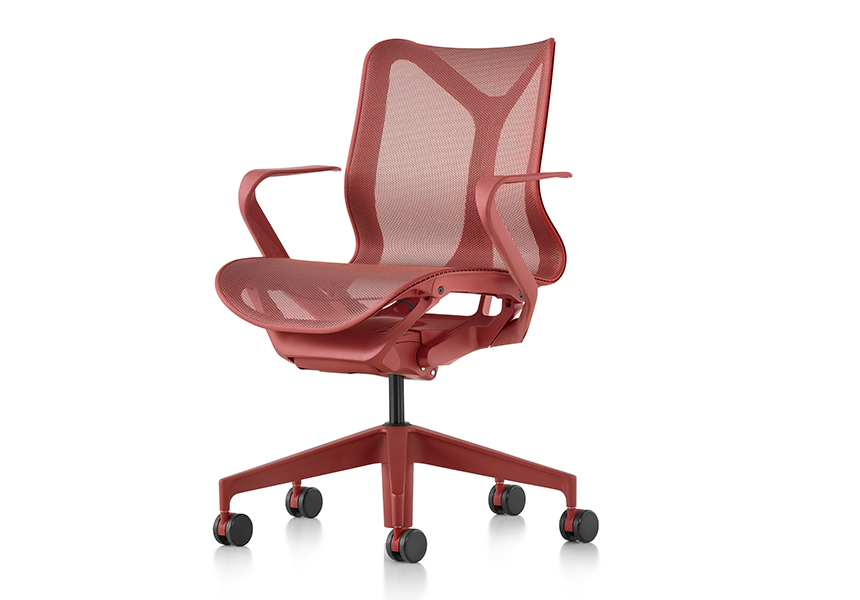 Low-Back Cosm Chair, Fixed Arms, Graphite - Item9