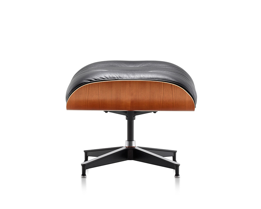 Eames Lounge Chair and Ottoman (Walnut Veneer - Black Leather) - In-stock: Less - Item9