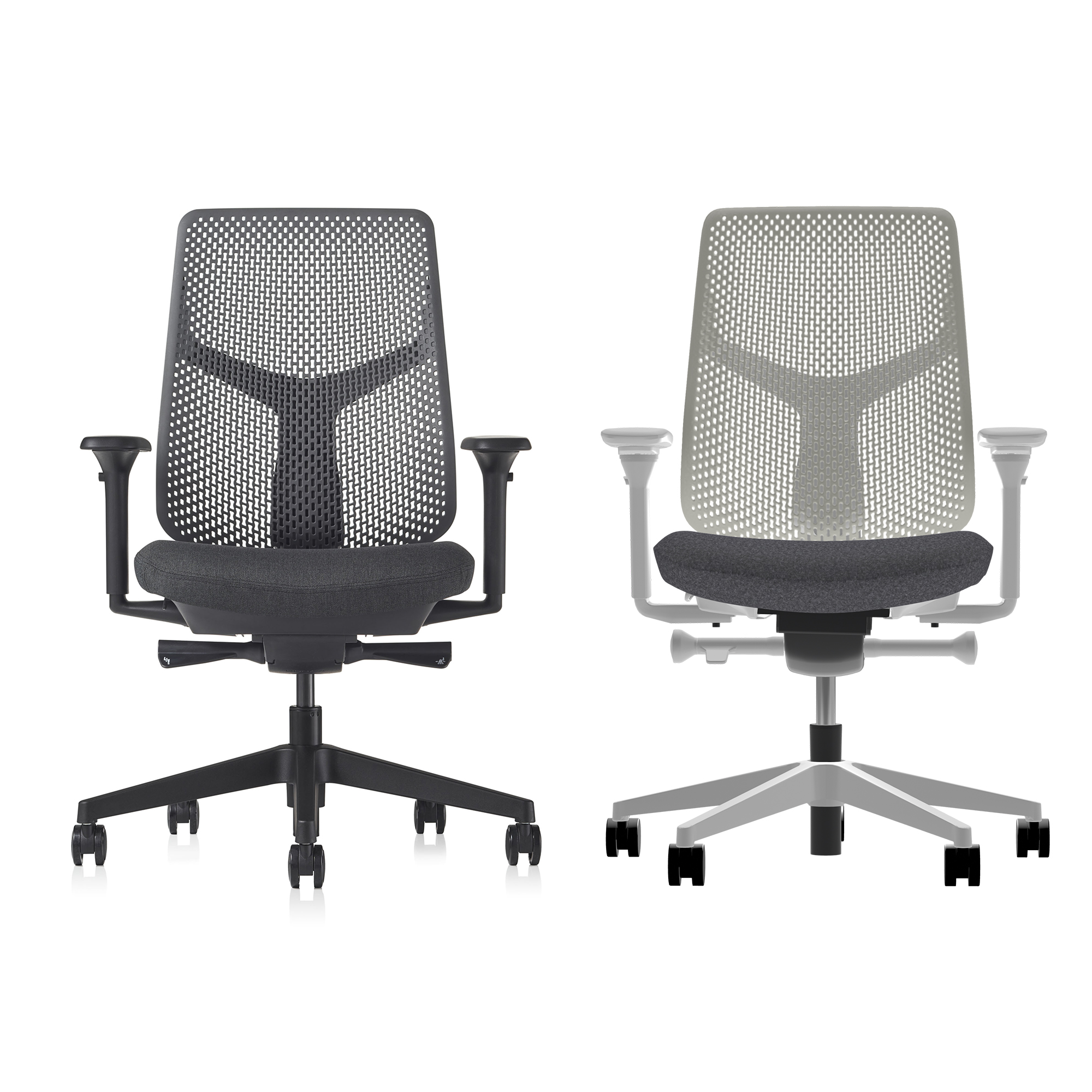 Verus Chair - Triflex Polymer (Granite, Black Combo) In-stock: Low