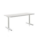 Atlas - Worktop Finish White 91 - Leg Finish White 91 - Size: W1400 x D700 x H650 - H1250 mm