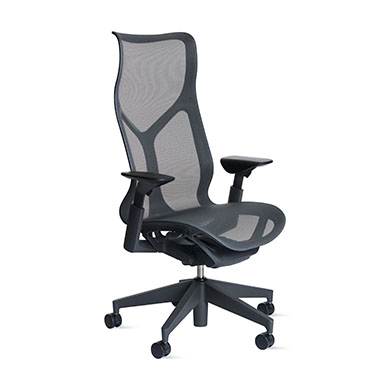 High-Back Carbon Chair, Adjustable Arms, Carbon