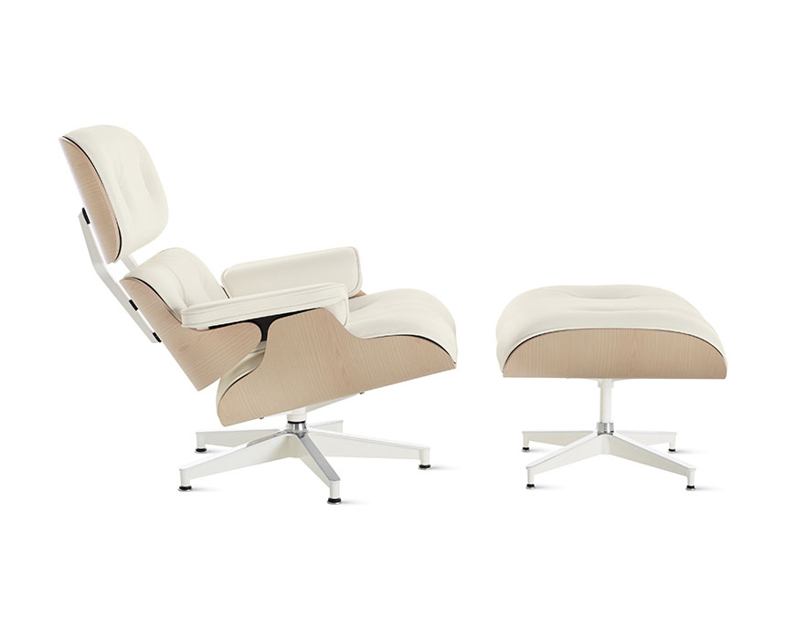 Eames Lounge Chair and Ottoman (White Ash) - Item1