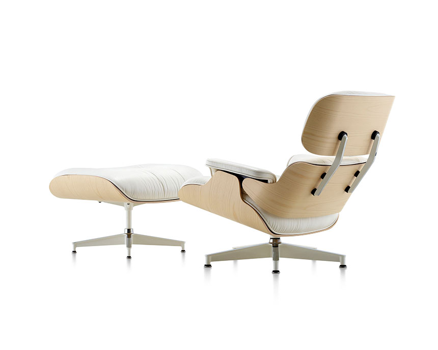 Eames Lounge Chair and Ottoman (White Ash) - Item4