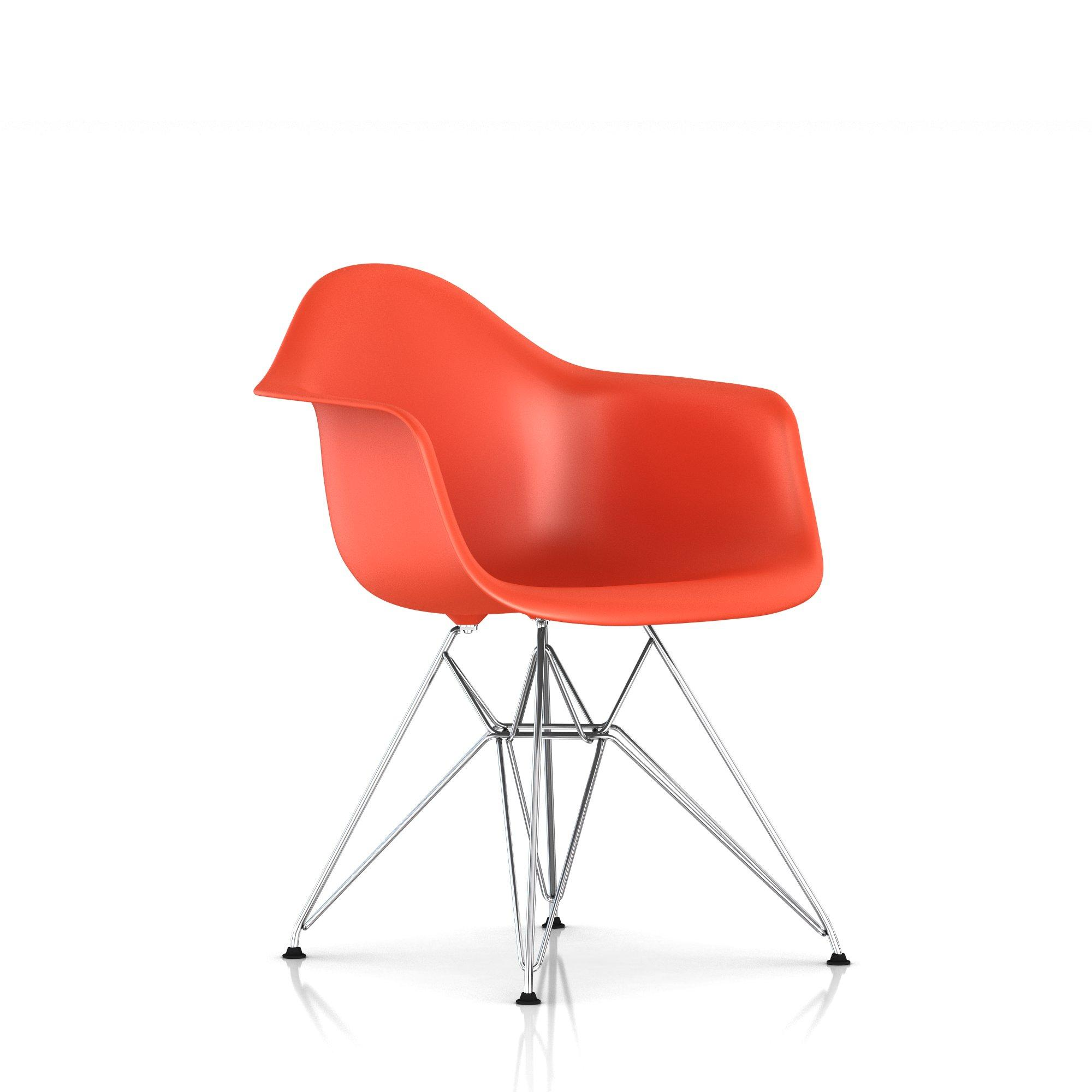 Eames Molded Plastic Armchair Wire Base