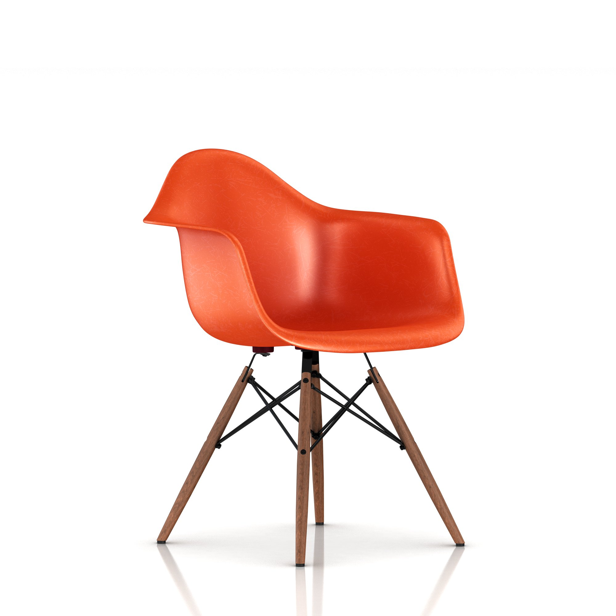 Red Orange + Walnut leg