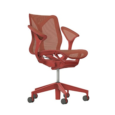 Low-Back Cosm Chair, Leaf Arms, Dipped in Color-Canyon