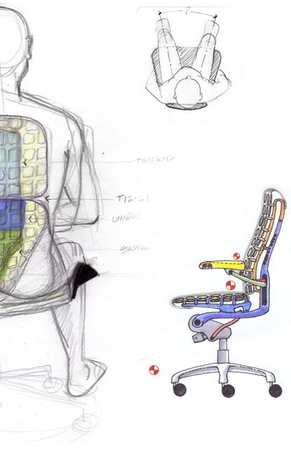 Embody Chair Design Sketch