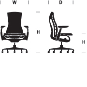 Embody Chair Dimensions Graphic