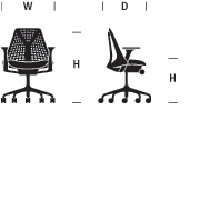 SAYL Chair Dimensions Graphic