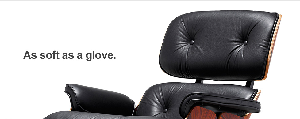 Eames Lounge Chair, Soft as Baseball Glove