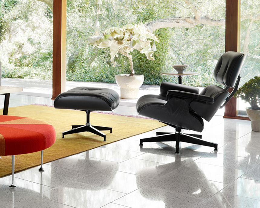 Eames Lounge Chair and Ottoman, Ebony - Item1