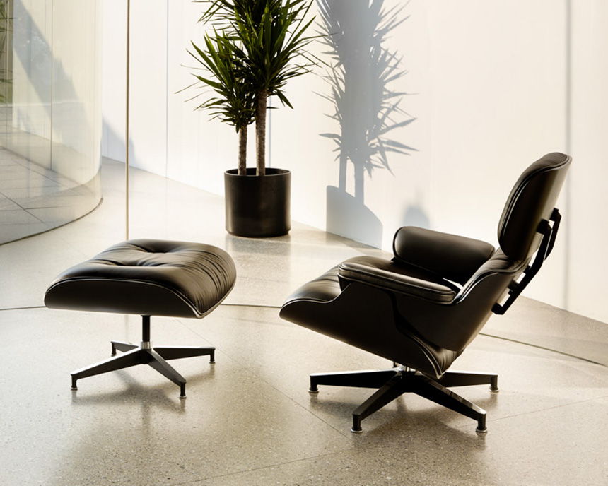 Eames Lounge Chair and Ottoman, Ebony - Item2