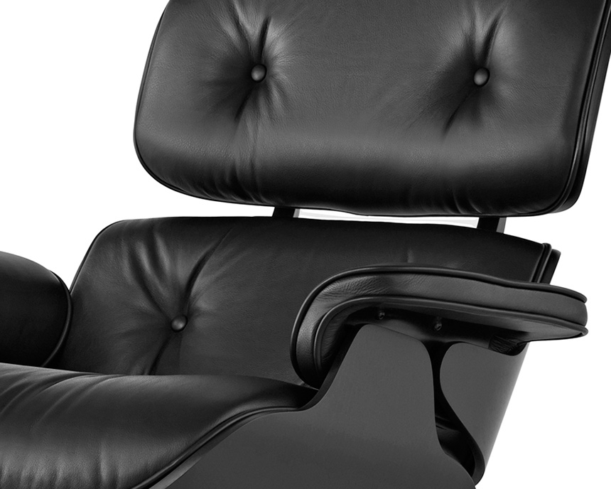 Eames Lounge Chair and Ottoman, Ebony - Item7
