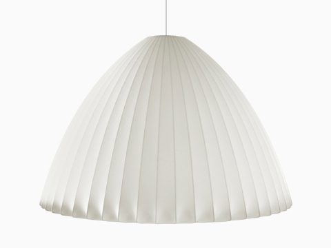 A bell-shaped hanging lamp—the Nelson Bell Bubble Pendant.