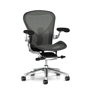 Aeron Chair - Graphite B size (Aluminum Posh Base)