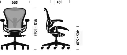 Aeron Chair, B Medium Chair Size