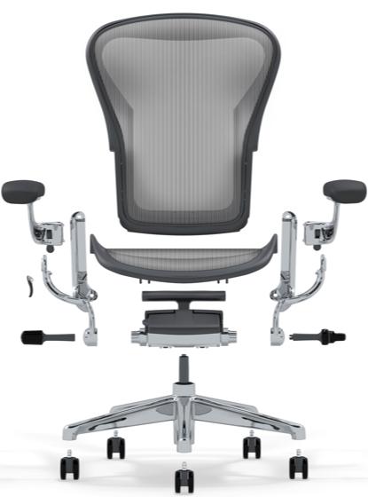 Aeron Chair Components Remastered by Don Chadwick