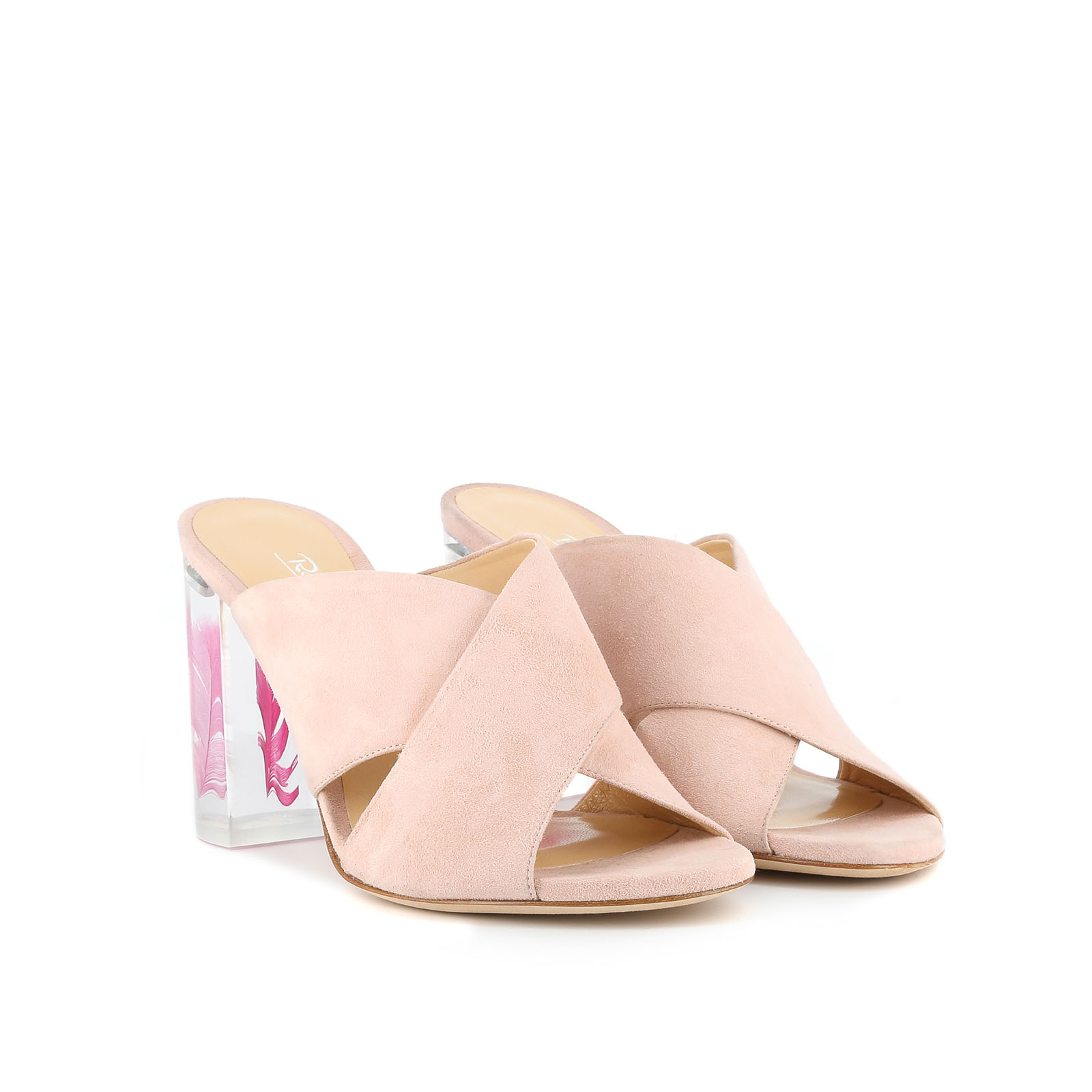 Pink Plume Sandals