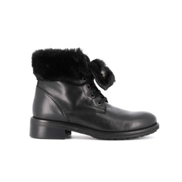 Quilt Boots with fur