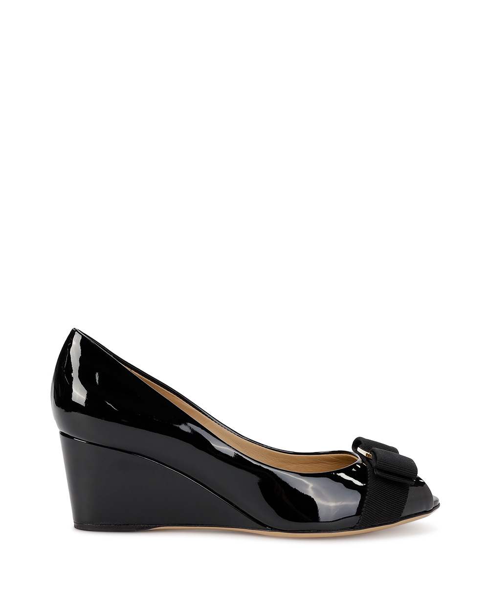 Patent Leather High Heels With Bow