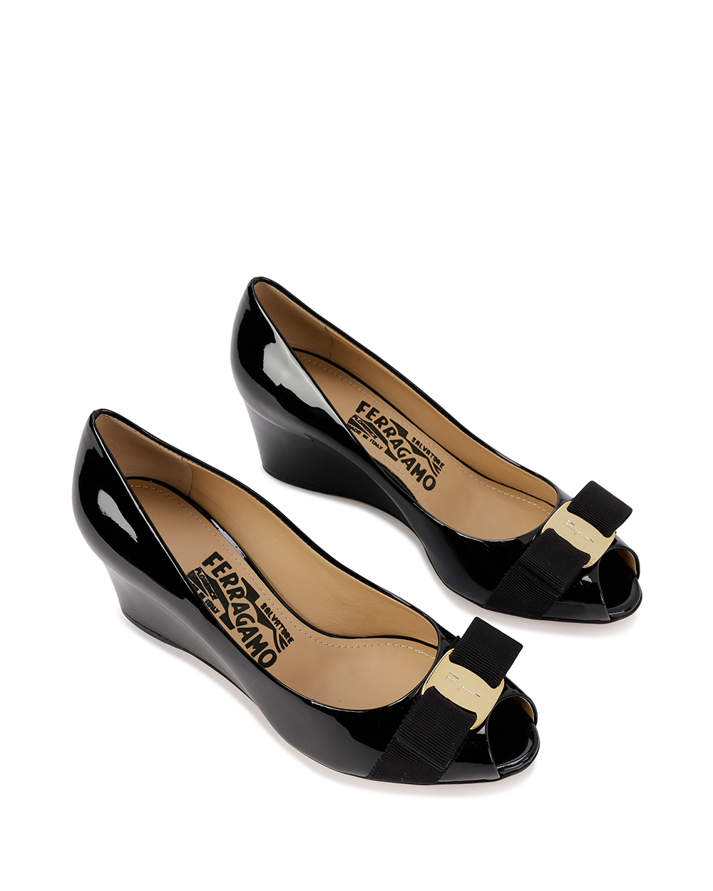 Patent Leather High Heels With Bow 1