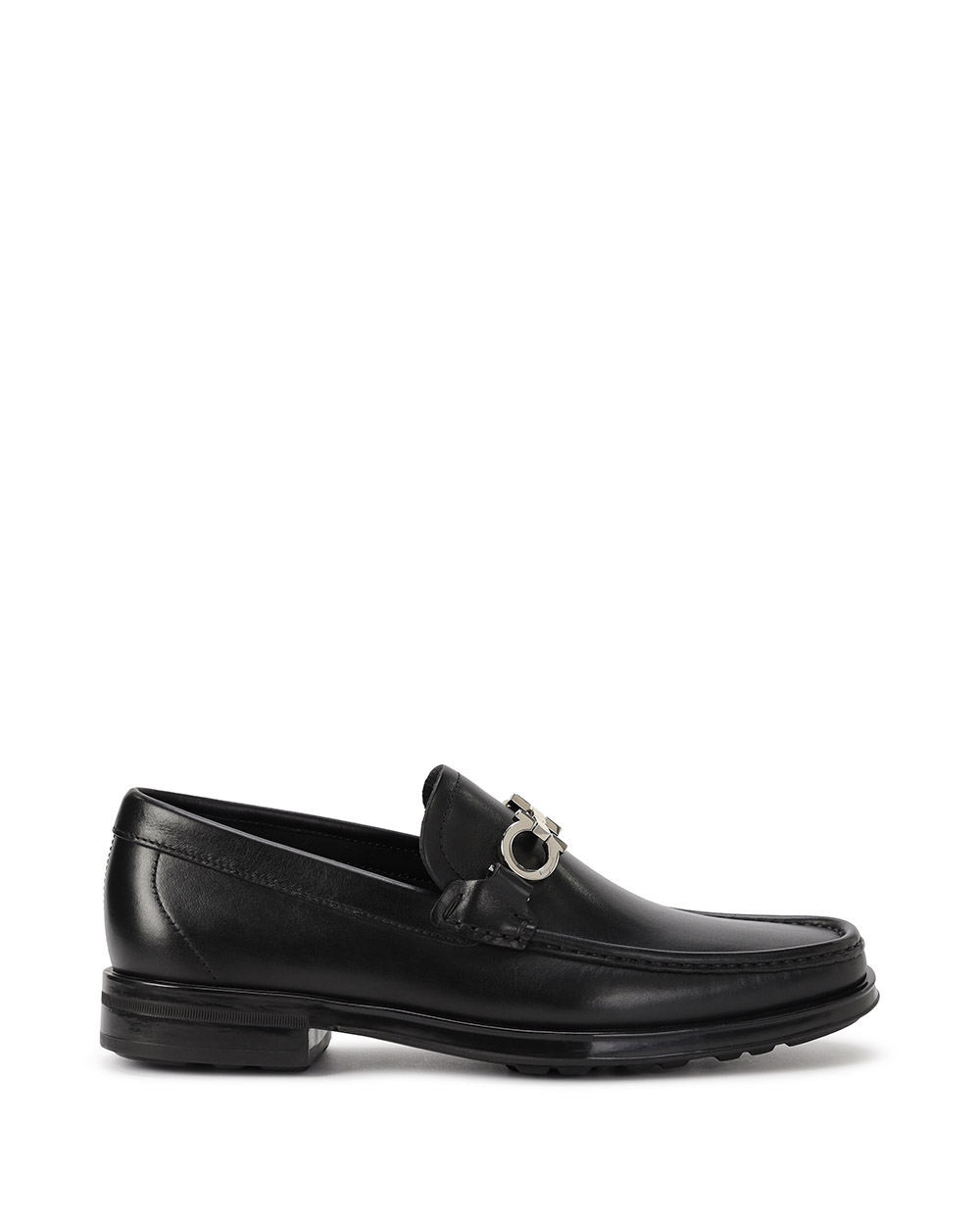 Metal Buckle Leather Shoes