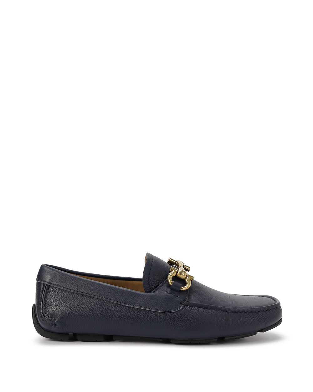 Leather Loafers With Metal Buckle