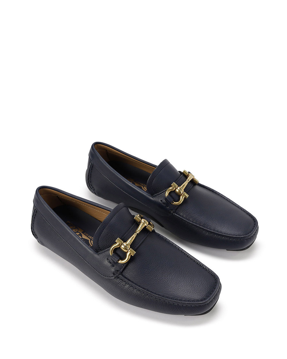 Leather Loafers With Metal Buckle 1