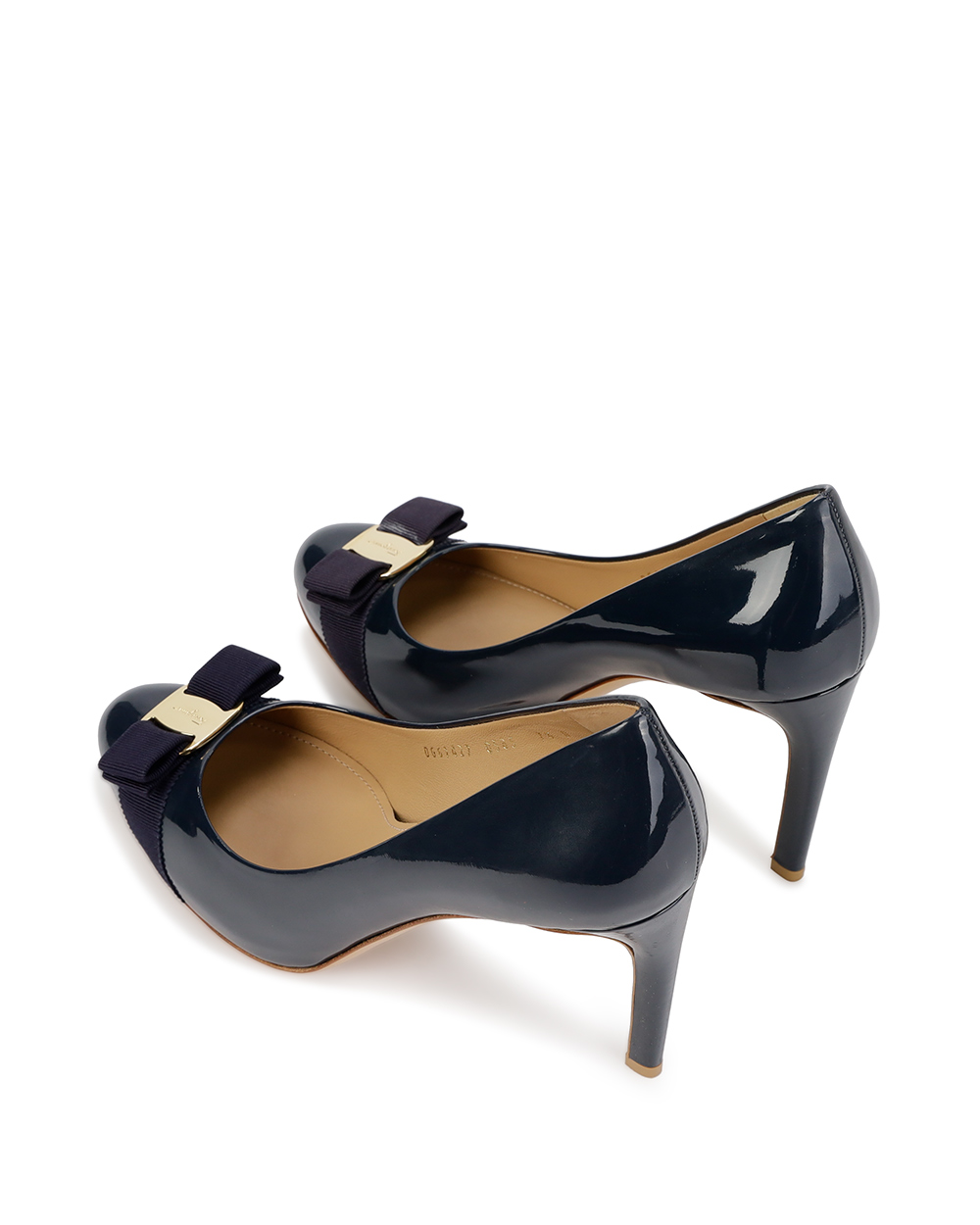 Patent Leather High Heels With Bow 2