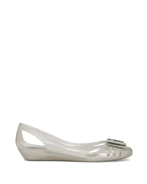 Bermuda Shallow Mouth Buckleless Strapless Flat Shoes